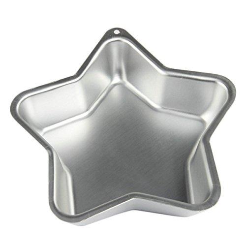 Spezielle Valentinstag Geschenk, Aluminium Sternform Kuchenform, Geburtstag Hochzeitstag Kuchen, abnehmbare Kuchenform, Silber Farbe Größe 10 X 10 Zoll