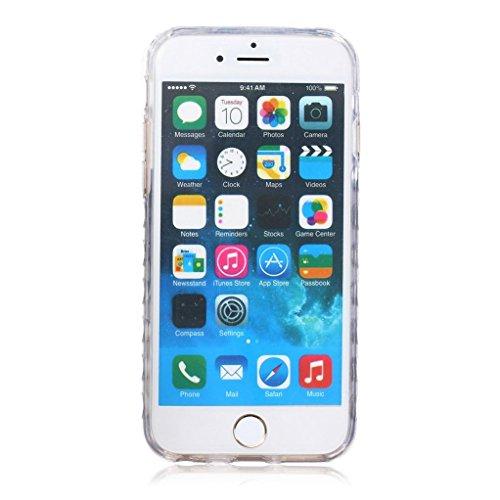 """Trumpshop Smartphone Case Coque Housse Etui de Protection pour Apple iPhone 6/6s 4.7"""" + Don't Touch My Phone Ourson + Flexible Ultra Mince Silicone TPU Gel avec Absorption de Choc + 3 Cadeaux Fleur Noir"""