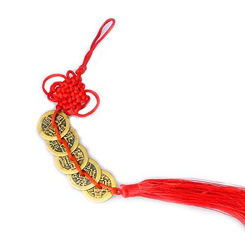 Romote 2 Sätze mit 5 Münzen Büro Dekorationen, chinesische Feng Shui-Münzen für Reichtum und Erfolg