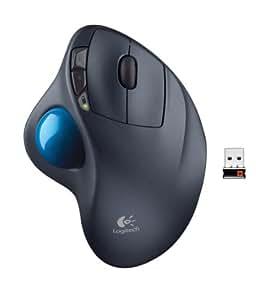 Logitech M570 Mouse con Trackball, Versione Europea, Grigio Scuro