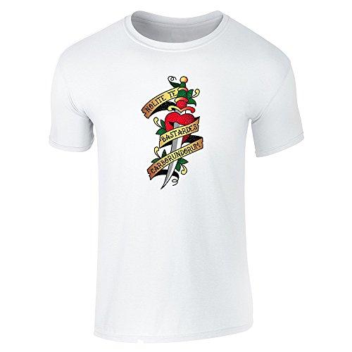 Pop Threads Herren T-Shirt Weiß