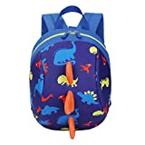 Toddler Boys Girls Kids Backpack Anti Lost Dinosaur Cartoon Safety Harness Rucksack with Reins Preschool Travel Outdoor Bag