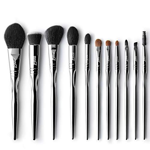 Makeup Pinsel Set MSQ 11 stücke Silber Picasso Natürliche & Synthetische Haar Kosmetik Foundation Blending Lidschatten Lidschatten Puderpinsel