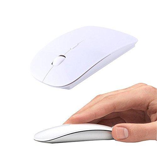 UrChoiceLtd Ratón Inalámbrico Silencioso Ultra Delgado 2,4 GHz USB Receptor Nano