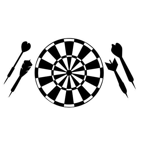 Kinderzimmer Dekorative Vinyl Abnehmbare Dart Sport Spiel Aushöhlen Dartscheibe Wandaufkleber Ausgangsdekor Club Restaurant Tapete 59x31 cm -