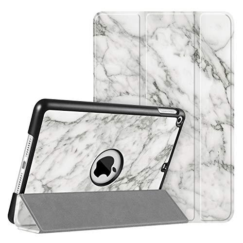 Fintie SlimShell Hülle für iPad Mini 5 2019 - Ultra Schlank Superleicht Ständer Schutzhülle mit Auto Schlaf/Wach Funktion für 2019 iPad Mini (5. Generation), Marmor Weiß
