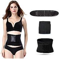 HXZB Hombres Y Mujeres Cinturón Deportivo Postparto Abdomen En Mujeres Cinturón Corsé,Black,XL