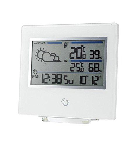 OREGON BAR800 Wetterstation weiss LCD DisplayFunkuhrKalender.Wettervorhersage mit Symbolen Innen und Aussentemperaturanzeige