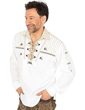 orbis Textil Trachtenhemd Schlupfform Weiss