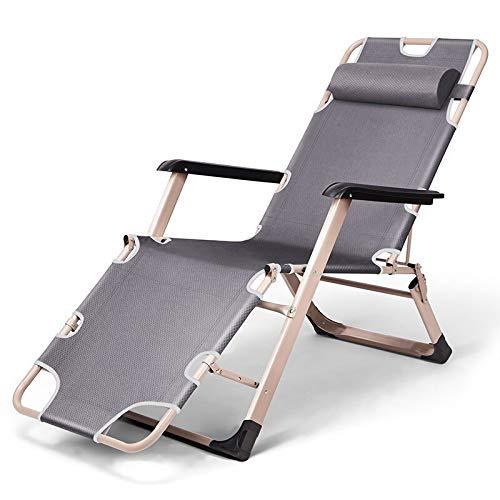 ZYFTYI Schwerelosigkeit Reclining Chair Patio Schaukelstuhl Rocker Seat Indoor und Outdoor, für Hausgarten Balkon Terrasse Deck Veranda 178 * 67 * 30cm (Color : Gray Without pad) -