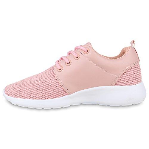 Herren Sportschuhe Muster | Laufschuhe Übergrößen | Sneakers Profilsohle | Blumen Runners Rosa Rosa Camiri