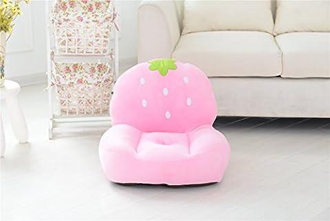 VERCART Sofa Fauteuil Coussin Canapé Siège Chair Chaise Jouet Enfant Bébé Peluche Fraise Fille Original 1 Place