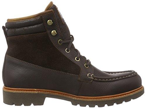 Panama Jack Andrew Aviator  Herren Warm gefüttert Biker Boots Kurzschaft Stiefel & Stiefeletten Braun (Brown)