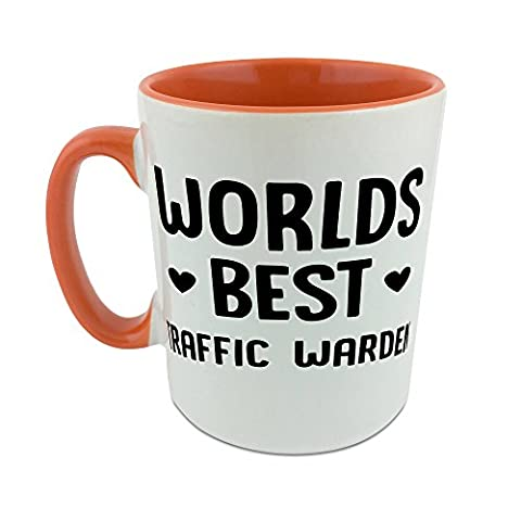 Mug with orange coat inside ofWorld