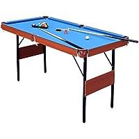 JCF Mini Mesa de Billar Snooker Mesa Plegable, Color Azul, con Bolas, 140 x 74.3 x 80.3 cm Azul