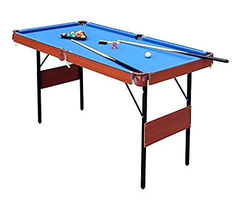 HLC 4FT 140*74.3*80.3CM Folding Blue Pool Snooker Billiards Table Games