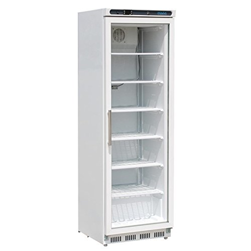 Gefriervitrine Kühlvitrine Gefrierschrank mit Glastüre Display Gefrierschrank 365L Gastro Tiefkühlschrank