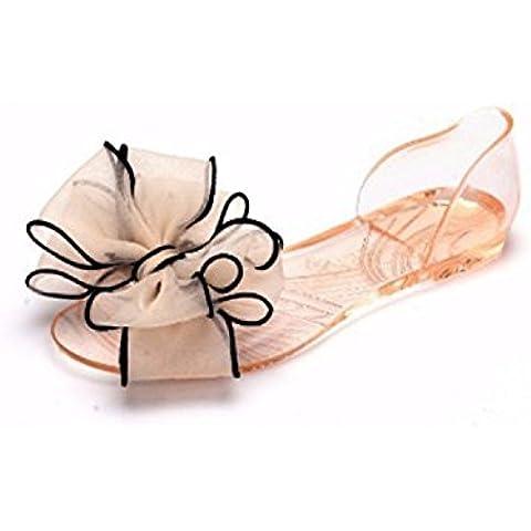 Mineroad Mujer Sandalias Calzado Dulce Bowknot Gelatina Jaleas Planas Jelly Beach Playa Zapatos