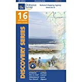 Ordnance Survey Ireland Blatt 16, Donegal, Fermanagh, Leitrim, Sligo, Irland Nordwestküste topographische Wanderkarte 1:50.000