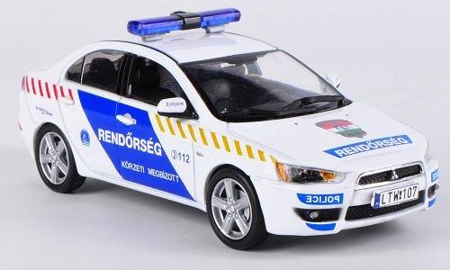 mitsubishi-lancer-x-ungherese-polizia-2009-modello-di-automobile-modello-prefabbricato-vitesse-143-m
