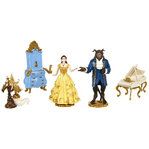 Beauty & The Beast Set DE Figuras LA Bella Y LA Bestia (7,5 CM), Jakks Pacific 45535