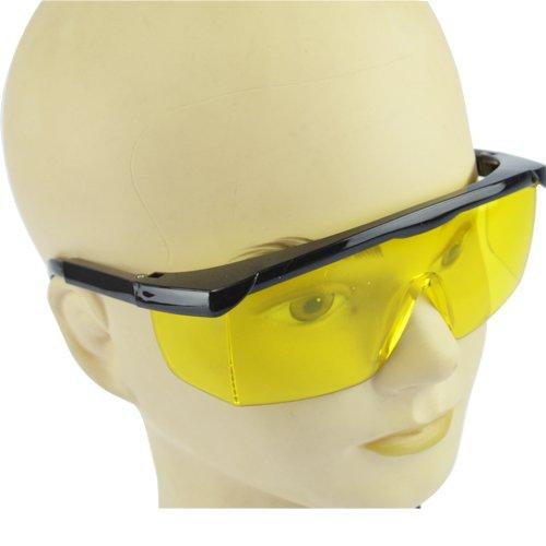 Profi Sicherheits Schutzbrille Arbeitsbrille Vollsichtbrille Augenschutz mit gelben Gläsern