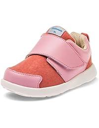 Little Blue Lamb - Zapatos de suela de goma blanda OG niñas | Zapatillas de deporte rosa y salmón
