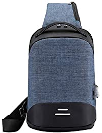 11899607c3e ☺HWTOP Umhängetasche Messenger Tasche Anti-Diebstahl-Paket Männer  Anti-Theft USB Tasche