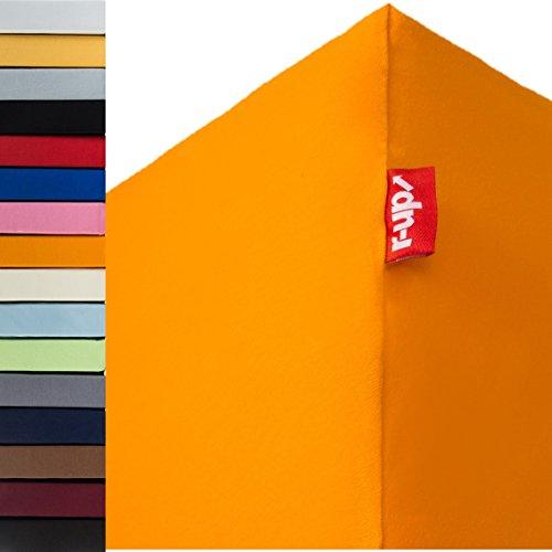 r-up Passt Spannbettlaken Doppelpack 90x200-100x200 bis 35cm Höhe viele Farben 100{785073648376de4a18fde6251a6129d76c38bc09f9ec5f2af636d3270af71518} Baumwolle 130g/m² Oeko-Tex stressfrei auch für hohe Matratzen (orange)