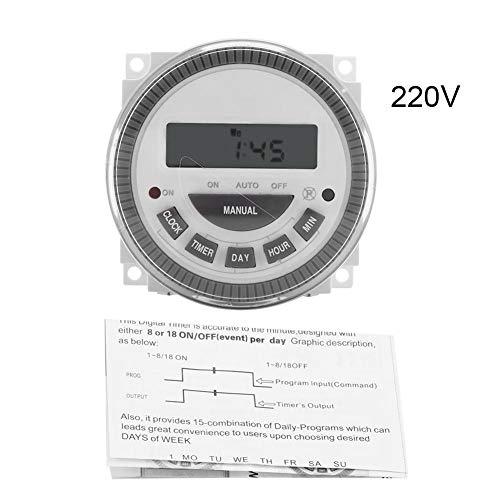 TOPINCN programmabile Interruttore Timer Digitale Smart Control plastica Timer Tempo relè Interruttore Uscita 16A 7Giorni alla Settimana di commutazione, 220V