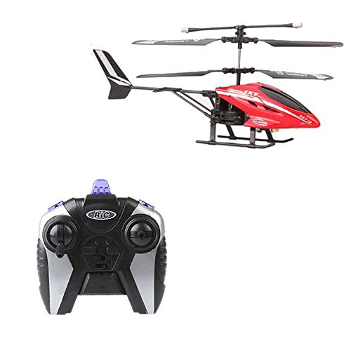 Pinjeer Remote Control Helicopter Drones with HD Camera Mini Drone Dron Quadcopter RC HX713 2.5CH Remote Control Radio Helicopter Plane Gifts for Children 5 + (Color: Red)