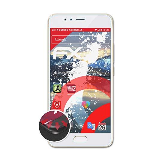 atFolix Schutzfolie passend für Meizu M5s Folie, entspiegelnde & Flexible FX Bildschirmschutzfolie (3X)