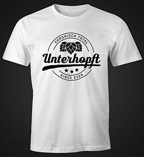 Chronisch Unterhopft Total Herren T-Shirt Since Ever Fun-Shirt Moonworks® Unterhopft weiß