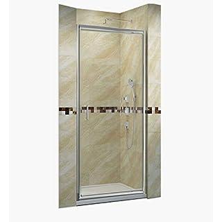 80cm Dusche Pendeltür Duschtüren aus Glas nische Duschwand Nischendusche Duschtüren für Nischen Duschabtrennung Höhe 185cm klar