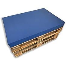 MICAMAMELLAMA Asiento Cojín de Espuma para sofá Exterior de Palet con Funda (80x120x12) (