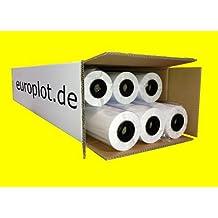 Plotterpapier 6 Rollen   90g/m², 91,4cm (914mm) breit, 50m lang, CAD, A0 unbeschichtet
