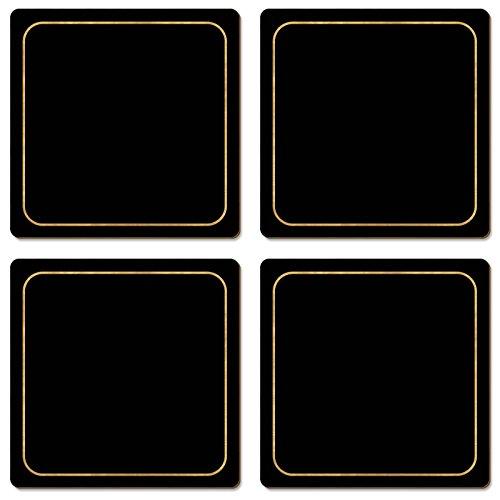 cala-casa-negro-con-borde-dorado-posavasos-juego-de-4