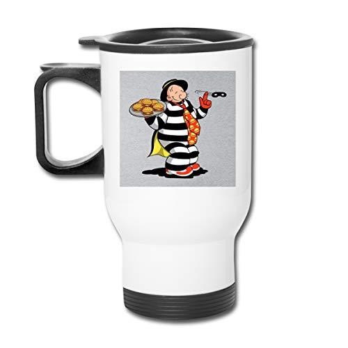 The Theft Wimpy Hamburgler Popeye McDonalds Doppelwandiger Vakuum-Kaffeebecher mit spritzwasserfestem Deckel für heiße und kalte Getränke