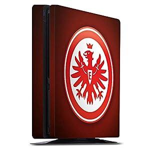 DeinDesign Skin kompatibel mit Sony Playstation 4 PS4 Slim Aufkleber Folie Sticker Eintracht Frankfurt Offizielles Lizenzprodukt Wappen