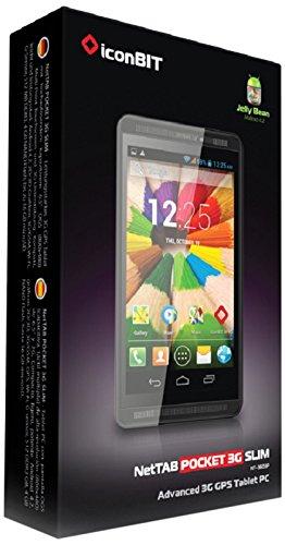 Preisvergleich Produktbild Iconbit NT-3603P NetTAB POCKET 3G SLIM 16,5 cm (6,5 Zoll) Tablet-PC (ARM Cortex A7, 1,2GHz, 1GB RAM, 8GB HDD, Touchscreen, Android) schwarz