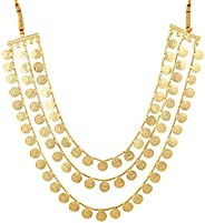 Womens Trendz Traditional Handmade Jewellery Potli Haar 24K Gold Plated Alloy Necklace for Women and Girls