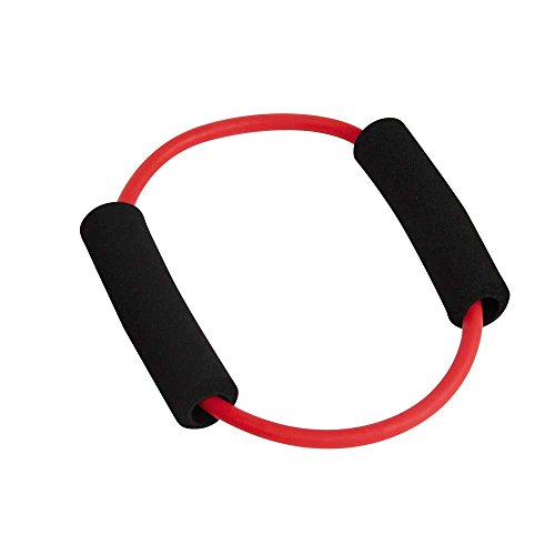 1x Behrend PowerUp O-Tube Pilates Yoga Gymnastik Fitness Widerstands Ring, rot, leicht