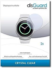 2 x disGuard Crystal Clear Lámina de protección para Samsung Gear S2 3G - ¡Protección de pantalla cristalina con recubrimiento duro! CALIDAD PREMIUM - Made in Germany