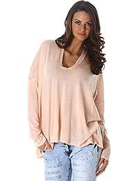 cbb99db333cd Unbekannt Jela London Donne pullover bene manica lunga felpa maglione  maglia con scollo a V 38