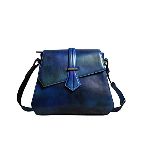 Lederleiter Bolso Bandolera, Bolsos Mujer Cuero Bolso de Hombro Bolso Shopper Callejero Bag