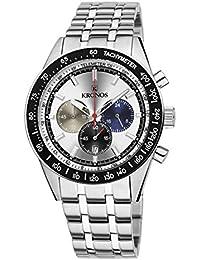 Kronos - Vintage Sport Chronograph Silver 944.8.105 - Reloj de Caballero de Cuarzo,