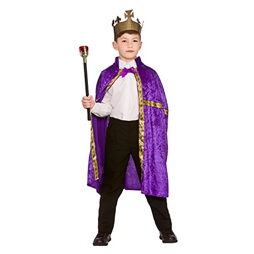 Robe Queen Kostüm (Deluxe King/Queen Robe & Crown Purple (8-10))