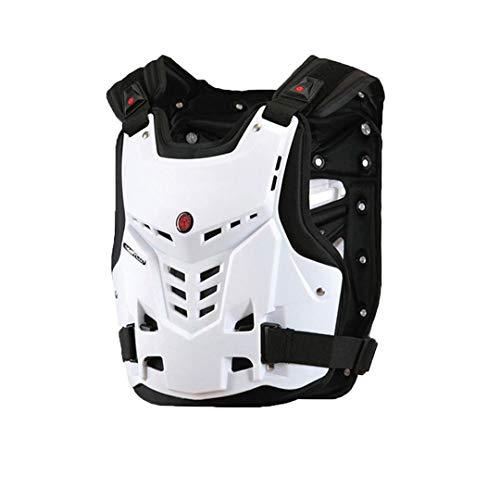 Gratydallks Motorrad-rüstungs-weste motorrad brust zurück schutz getriebe motocross rüstung rennweste motorrad beschützer ausrüstung WHITE XL