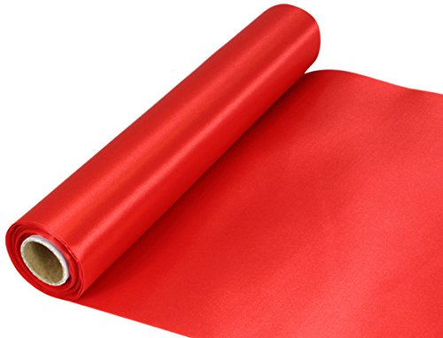 Oaktree UK Eleganza Satin Stoff, rot, 29 cm x 20 m
