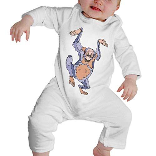 Gorilla Chimp Long Sleeve Onesies Bodysuits for Baby Girl